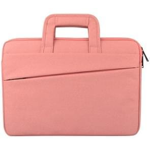 Universele 14 inch Laptoptas met Oxford stof en handvat voor MacBook  Samsung  Lenovo  Sony  Dell  Chuwi  Asus  HP (roze)