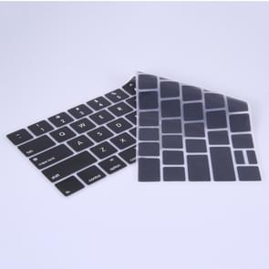 siliconen toetsenbord beschermings voor MacBook Pro 13.3 inch met Touch Bar (2016) / A1706 & A1708, US versie(zwart)