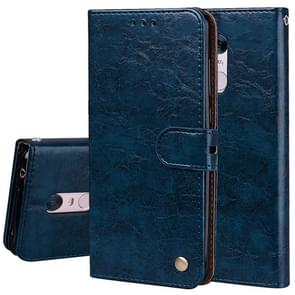 For Xiaomi Redmi 5 Plus Oil Wax Texture Horizontal Flip Leather Case with Holder & Card Slots & Wallet(Blue)