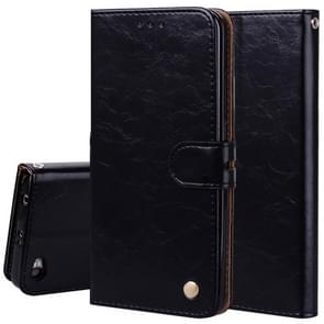 For Xiaomi Redmi Note 5A Without Fingerprint Identification Oil Wax Texture Horizontal Flip Leather Case with Holder & Card Slots & Wallet(Black)