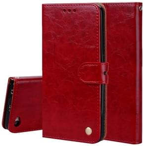 For Xiaomi Redmi Note 5A Without Fingerprint Identification Oil Wax Texture Horizontal Flip Leather Case with Holder & Card Slots & Wallet(Red)