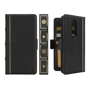 Bible Style Business Horizontal Flip Leather Case for OnePlus 6, with Card Slots & Photo Frame & Holder & Wallet (Black)