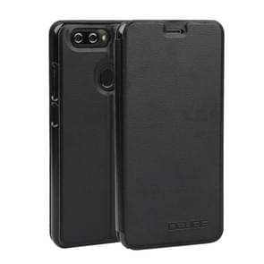 OCUBE Spring Texture Horizontal Flip Leather Case for BLUBOO D6, with Holder (Black)