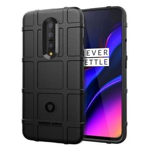 Shockproof Rugged Shield Full Coverage Protective Silicone Case for Oneplus 7 (Black)