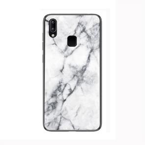 Marble Glass Protective Case for Vivo Y95(White)