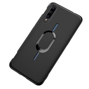 Shockproof TPU Full Protective Case for Vivo iQOO, with 360 Degree Rotation Holder (Black)
