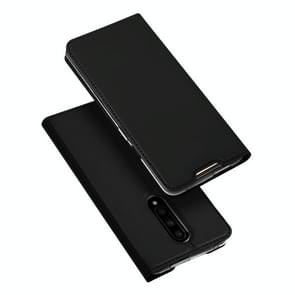 DUX DUCIS Skin Pro Series Horizontal Flip PU + TPU Leather Case for OnePlus 7 Pro, with Holder & Card Slots(Black)