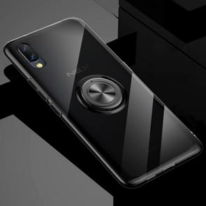 Ultra-thin TPU Protective Case for Vivo NEX S, with 360 Degree Rotation Holder (Black)