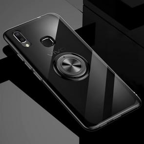 Ultra-thin TPU Protective Case for Vivo X21, with 360 Degree Rotation Holder (Black)