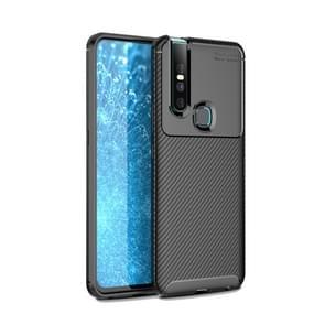 Carbon Fiber Texture Shockproof TPU Case for VIVO V15 (Black)