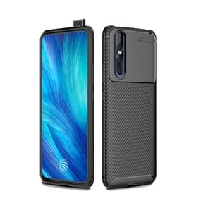 Carbon Fiber Texture Shockproof TPU Case for VIVO X27 (Black)