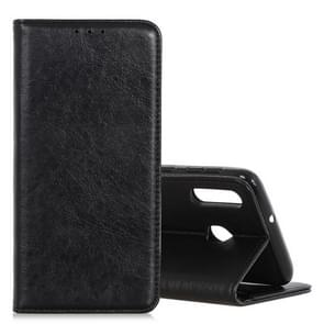 Magnetic Retro Crazy Horse Texture Horizontal Flip Leather Case for CUBOT X19, with Holder & Card Slots & Photo Frame(Black)