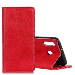 Magnetic Retro Crazy Horse Texture Horizontal Flip Leather Case for CUBOT X19, with Holder & Card Slots & Photo Frame(Red)