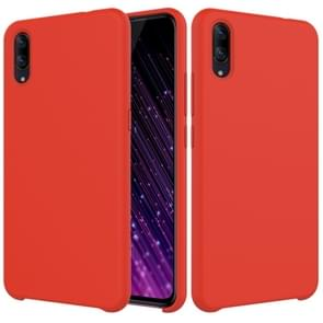 Solid Color Liquid Silicone Dropproof Protective Case for VIVO X23 (Red)