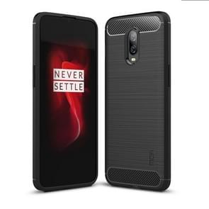 MOFI Brushed Texture Carbon Fiber TPU Case for OnePlus 6T (Black)