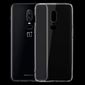 Voor OnePlus 6 ultra-dunne 0 75 mm transparant TPU beschermende Case(Transparent)