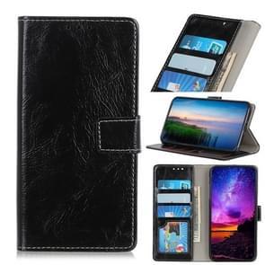 Retro Crazy Horse textuur horizontale Flip lederen case voor OnePlus 7  met houder & card slots & portemonnee & fotolijst (zwart)
