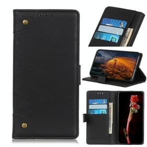 Copper Buckle Retro Crazy Horse Texture Horizontal Flip Leather Case for OnePlus 7, with Holder & Card Slots & Wallet (Black)
