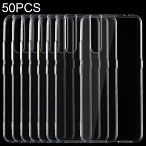 50 PCS 0.75mm Ultrathin Transparent TPU Soft Protective Case for VIVO V15 Pro