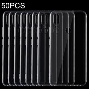 50 PCS 0.75mm Ultrathin Transparent TPU Soft Protective Case for Meizu Note 9