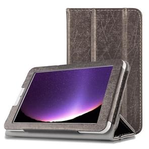 Steel Wire Texture Horizontal Flip Leather Case for Cube C1, with Three-folding Holder (Black)