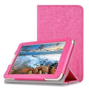 Steel Wire Texture Horizontal Flip Leather Case for Cube C1, with Three-folding Holder (Pink)