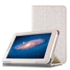 Steel Wire Texture Horizontal Flip Leather Case for Cube C1, with Three-folding Holder (White)