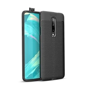 Litchi Texture TPU Shockproof Case for OnePlus 7 (Black)