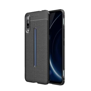 Litchi Texture TPU Shockproof Case for Vivo iQOO (Black)