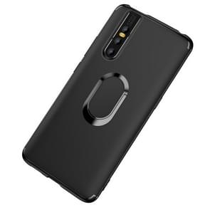 Shockproof TPU Full Protective Case for Vivo X27, with 360 Degree Rotation Holder (Black)
