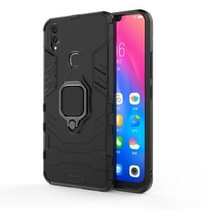 PC + TPU Shockproof Protective Case for Vivo V9, with Magnetic Ring Holder (Black)