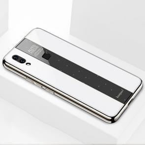 Electroplated Mirror Glass Case for Vivo V11i (White)