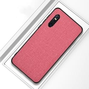 Shockproof Cloth Texture PC+ TPU Protective Case for Vivo X27(Pink)