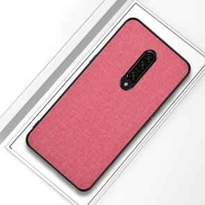 Shockproof Cloth Texture PC+ TPU Protective Case for OnePlus 7(Pink)