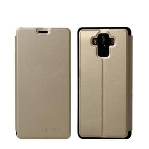 OCUBE Spring Texture Horizontal Flip Leather Case for BLUBOO S3, with Holder (Gold)