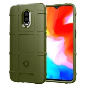 Schokbestendige Protector dekken volledige Silicone Case forOnePlus 6T (Army Green)