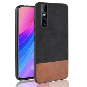Shockproof Color Matching Denim PC + PU + TPU Case for Vivo V15 Pro (Black)