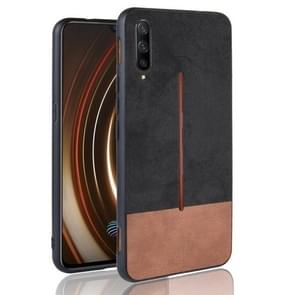 Shockproof Color Matching Denim PC + PU + TPU Case for Vivo iQOO (Black)