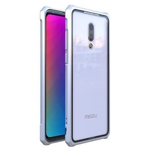 Snap-on Aluminum Frame and Tempered Glass Back Plate Case for Meizu 16th(Silver)