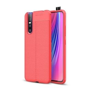 Litchi Texture TPU Shockproof Case for VIVO V15 Pro(Red)
