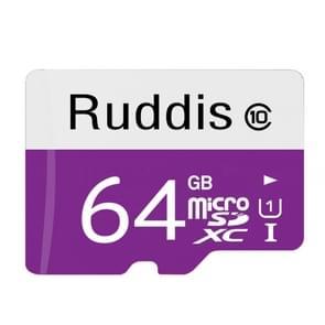 Ruddis 64GB High Speed Class 10 TF/Micro SDXC UHS-1(U1) Memory Card