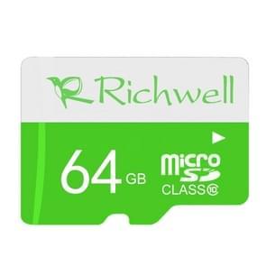 Richwell 64GB High Speed Class 10 Micro SD(TF) Memory Card