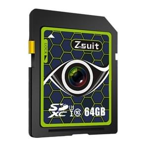 Zsuit Honeycomb Series 64GB Camera Lens Pattern SD Memory Card for Driving Recorder / Camera and Other Support SD Card Devices