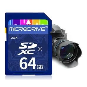 Mircodrive 64GB High Speed Class 10 SD geheugenkaart voor alle digitale apparaten met SD-kaart Slot