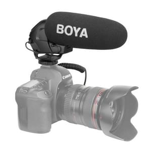 BOYA BY-BM3030 Shotgun Super-cardioid Condenser Broadcast Microphone with Windshield for Canon / Nikon / Sony DSLR Cameras (Black)