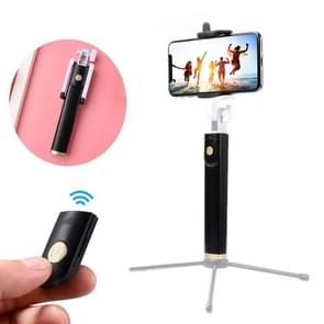 K08 Portable Foldable Wireless Bluetooth Shutter Remote Selfie Stick Tripod for iPhone and Android Phones, Tripod is not Included(Black)