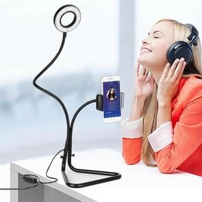 zb-003 New Triangle Mobile Phone Beauty Self-timer Live Stand Fill Light(Black)
