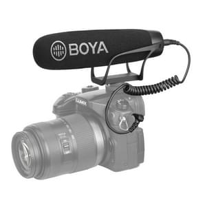 BOYA BY-BM2021 Shotgun Super-Cardioid Condenser Broadcast Microphone with Windshield for Canon / Nikon / Sony DSLR Cameras, Smartphones (Black)