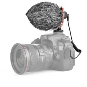 YELANGU MIC10 YLG9920A Professional Interview Condenser Video Shotgun Microfoon met 3 5mm audiokabel voor DSLR & DV Camcorder (Zwart)