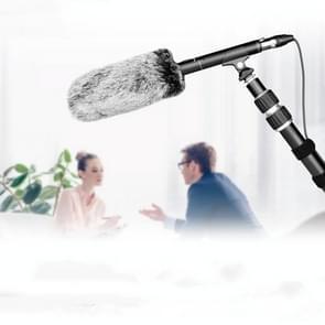 YELANGU YLG9933A MIC07 Professional Interview Condenser Video Shotgun Microfoon met 6 5 mm audioadapter & 3 5 mm RXL-audiokabel(zwart)